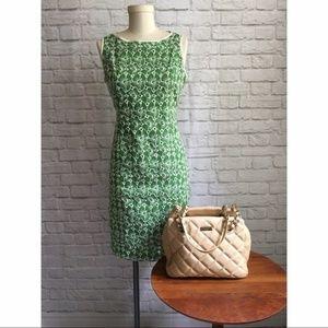 Talbots Green Eyelet Linen Dress